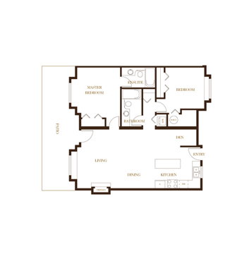 port coquitlam three bedroom townhomes plan b Floor Plans